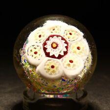 Antique Bohemian Millefiori Glass Paperweight 19th / 20th Century