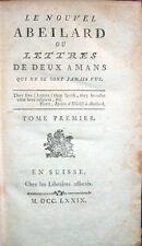 1779 – RETIF DE LA BRETONNE, LE NOUVEL ABEILARD – LETTERATURA FRANCESE ROMANZI