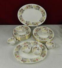 28 Piece Wedgwood Lichfield 8 Dinner 12 Luncheon 2 Platters 6 Cups Dinnerware