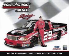 """TERRY COOK """"POWER STROKE DIESEL RACING FORD"""" #29 NASCAR TRUCK SERIES POSTCARD"""