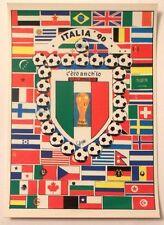 Cartolina Italia 90 - C'Ero Anch'Io Stemma FIFA World Cup Bandiere