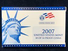 2007 Us Mint Proof Set 10 Piece Clad Set