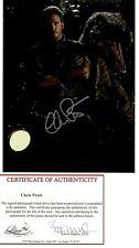 CHRIS PRATT SIGNED 8X10 PHOTO JURASSIC WORLD, GUARDIANS OF THE GALAXY  POP COA