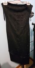 purple patch strapless asymmetrical dress black size 8 NWT