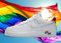 "NEW MEN'S NIKE AIR FORCE 1 LOW ""BE TRUE"" PRIDE SHOES (2020) MULTI COLOR SZ 10"