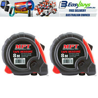 2x Tape Measure 8m PRO MPT Metric Imperial Trade Quality Ergo Heavy Duty 8Mtr 8