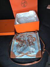 Authentic Hermes Silky City blue 'Brides de Gala'  Shoulder Bag 33cm