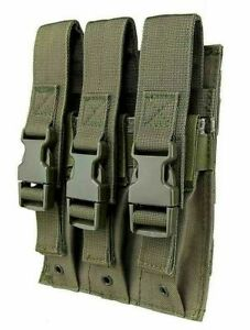 VISM Triple Hicap Pistol Magazine Pouch MOLLE Tactical Duty Gear Hunting ODG