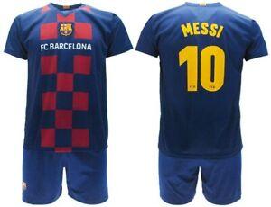 MESSI 10 FC BARCELONA Kit Completo MAGLIA e PANTALONCINI Casa 2019/2020