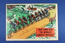 1957 Topps Isolation Booth #81 How Long Is The World's Longest Bicycle? - G/VG