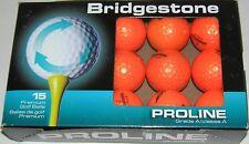 15 Bridgestone Golf Distance e6 Optic Orange AAAAA recycled balls