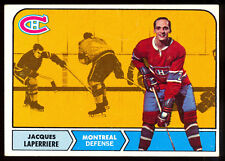1968 69 TOPPS HOCKEY #58 Jacques Laperriere VG-EX Cond Montreal Canadiens Card