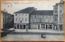 cartolina 1910ca CAMISANO VICENTINO ( VICENZA ) Piazza Umberto I