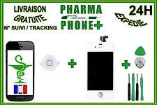 IPHONE 4 - ECRAN LCD RETINA + VITRE TACTILE IPHONE 4 BLANC + BOUTTON HOME