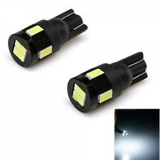 T10 LED White for Car Parking Number Plate Lights 5050 6SMD 194 W5W LEDs