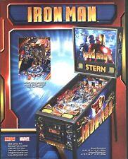 Stern IRON MAN 2010 Original NOS Arcade Pinball Machine Flyer Sci-Fi Art Marvel