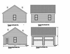 24x24 - 2 CAR GARAGE PLAN - GABLE OPPOSING ROOF - PLAN #17-2424GBL-OP