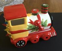 Pfaltzgraff Christmas Heritage Train Engine Pierced Votive Candle Holder
