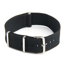 Watch Strap Band Military Army Nylon Canvas Divers G10 Mens Colour:Black Wi N8D3