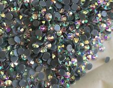 Swarovski crystals flat back hot fix stones clear ab for clothes design all size