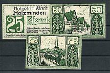 Holzminden 3 Scheine Notgeld Serie kompl..