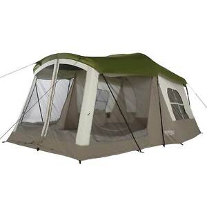 Wenzel Klondike 8-Person Large Outdoor Camping Tent w/Screen Room, Green