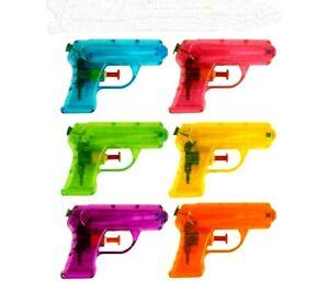 2PK WATER PISTOLS GUNS - KIDS SUMMER TOY GARDEN BEACH HOLIDAY GIFT 11cm