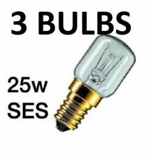 25w 240v SES Clear 300 Degree High Temperature Oven Lamp E14 Light Bulb x 3