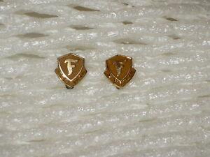 14K YELLOW GOLD TWO FIRESTONE 10 YEAR SERVICE PINS W/ ORIGINAL BOX *VINTAGE 70's