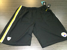 Pittsburgh Steelers Official On Field NFL Football Gym Shorts Epic Black Large