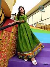 Asian Indian Pakistani Women Designer Kurti Kurta Tunic Dress Bandhni Green