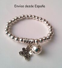 Pulsera oso y cuentas -  Bear bracelet and beads