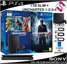 VIDEOCONSOLA SONY PS4 PLAYSTATION 4 SLIM 1TB UNCHARTED 4 COLLECTION (PENINSULA)