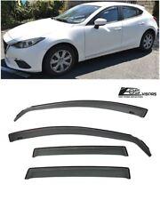 EOS For 14-18 Mazda 3 / Sport | IN-CHANNEL Side Window Visors Rain Deflectors