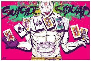Suicide Squad By Boneface Mondo Poster Art Print Hand Numbered Limited Edition