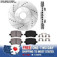 Ceramic Brake Pads For 1994-1995 Ford Aspire Front eLine Drilled Brake Rotors