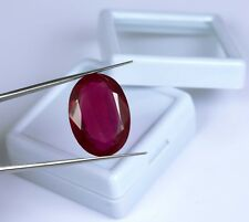 Natural Burma Ruby Gemstone 27.70 Ct Untreated VS Clarity Oval Cut Certified