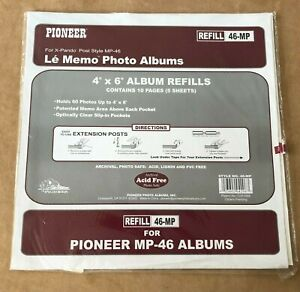 Lot of 2 pack Pioneer Memo Pocket Album 5 sheets each Refill 46-mp 4x6