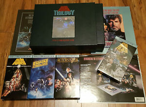 /82 Star Wars VHS Letterbox Collectors Edition Trilogy Box Set, Book, Inserts