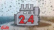 Porsche 911 2.4 Motor ventana calcomanía-Retro 2.2 Estilo Pantalla Trasera calcomanía