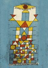 Sublime Side Art for Bauhaus Exhibition Weimar 1923, PAUL KLEE  Bauhaus Poster