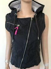 Divine Womens LORNA JANE Cotton Hooded Vest Top Sz Small + FREE LORNA JANE GIFT