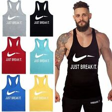 Musculation Beau T-Shirt Homme Débardeur Sans Manche Tank Top Fitness Gym Sports