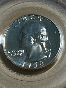 1958 US Washington Proof Quarter Graded PR68 by PCGS!!