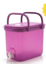 Tupperware Giant Beverage Dispenser Purple w/ Handles Sports Teams 9~Qt/8.7L New
