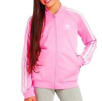 MED / LG. Junior Girls  adidas Originals SUPERGIRL TRACK TOP  PINK / White LAST1