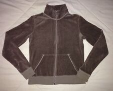 Juicy Couture Girl's Size Large Olive Green Zipper Front Velour Sweatshirt