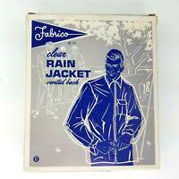 VTG Fabrico Clear Rain Jacket Vented Back Large 44-46 L Waterproof Sportswear
