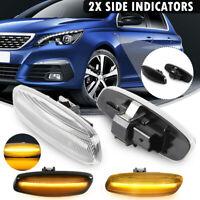 LED Side Wing Mirror Indicator Repeater Light For Peugeot 3008 For Citroen C3