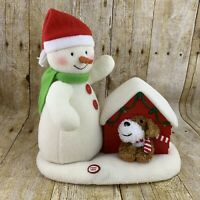 Hallmark Jingle Pals 2011 Merry Carolers SEE VIDEO Snowman Dog Doghouse